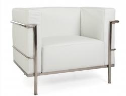 Image du fauteuil design LC2 Poltrona Le Corbusier Large-Bianco
