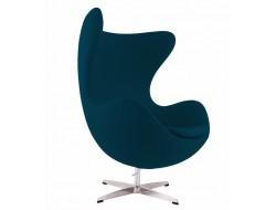 Image du fauteuil design Poltrona Egg AJ - Blu Reale