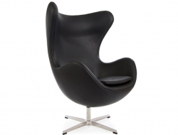 Image du fauteuil design Poltrona Egg AJ - Nera