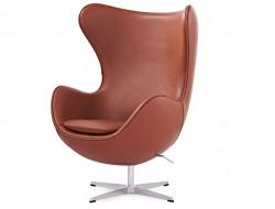 Image du fauteuil design Poltrona Egg Arne Jacobsen - Cognac