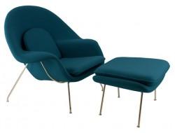 Image du fauteuil design Poltrona Womb - Blu Reale