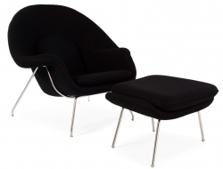 Image du fauteuil design Poltrona Womb - Nero