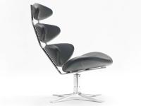 Image du fauteuil design Chaise Corona PK - Noir
