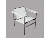 Image du fauteuil design Chaise LC1 Le Corbusier - Blanc