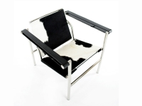 Image du fauteuil design Chaise LC1 Le Corbusier - Pony noir