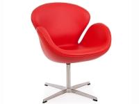 Image du fauteuil design Chaise Swan Arne COSYSEN - Rouge