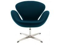 Image du fauteuil design Chaise Swan Arne Jacobsen - Bleu Royal