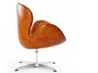 Image du fauteuil design Chaise Swan Arne Jacobsen - Marron vintage