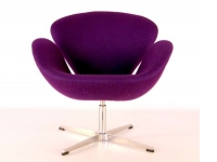 Image du fauteuil design Chaise Swan Arne Jacobsen - Mauve