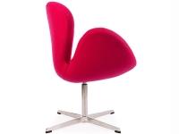 Image du fauteuil design Chaise Swan Arne Jacobsen - Rose