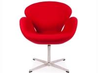Image du fauteuil design Chaise Swan Arne Jacobsen - Rouge