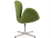 Image du fauteuil design Chaise Swan Arne Jacobsen - Vert
