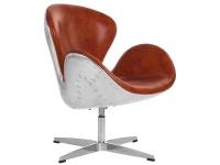Image du fauteuil design Chaise Swan Spitfire AJ - Havane