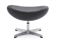 Image du fauteuil design Egg Ottoman Arne Jacobsen - Grigio