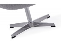 Image du fauteuil design Egg Ottoman Arne Jacobsen - Gris clair