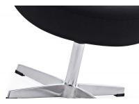 Image du fauteuil design Egg Ottoman Arne Jacobsen - Noir