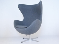 Image du fauteuil design Fauteuil Egg AJ - Gris