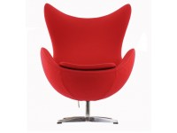Image du fauteuil design Fauteuil Egg AJ - Rouge