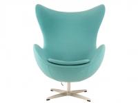 Image du fauteuil design Fauteuil Egg AJ - Turquoise