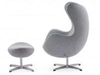 Image du fauteuil design Fauteuil Egg & Ottoman Arne COSYSEN - Gris clair