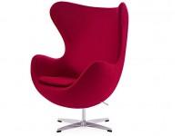 Image du fauteuil design Fauteuil Egg & Ottoman Arne COSYSEN - Rouge
