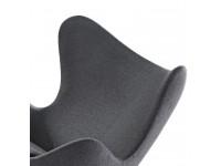 Image du fauteuil design Fauteuil Egg & Ottoman Arne Jacobsen - Gris