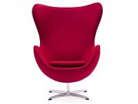 Image du fauteuil design Fauteuil Egg & Ottoman Arne Jacobsen - Rouge