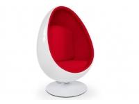 Image du fauteuil design Fauteuil Egg Ovale - Rouge