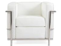 Image du fauteuil design LC2 Poltrona Le Corbusier - Bianco