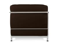Image du fauteuil design LC2 Poltrona Le Corbusier-Marrone Scuro