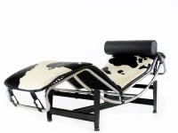 Image du fauteuil design LC4 Sedia a sdraio - Pony nero/bianco