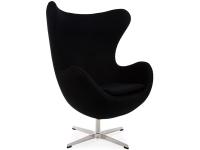 Image du fauteuil design Poltrona Egg Arne COSYSEN - Nero