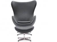Image du fauteuil design Poltrona Egg Arne Jacobsen - Grigio