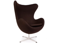Image du fauteuil design Poltrona Egg Arne Jacobsen - Marrone