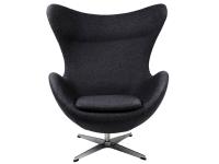 Image du fauteuil design Poltrona Egg Arne Jacobsen - Nero