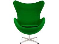 Image du fauteuil design Poltrona Egg Arne Jacobsen - Smeraldo