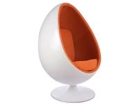 Image du fauteuil design Poltrona Egg ovale - Arancione
