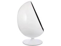 Image du fauteuil design Poltrona Egg ovale - Nero