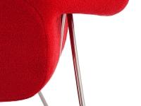 Image du fauteuil design Poltrona Womb - Rosso