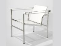 Image du fauteuil design Sedia LC1 Le Corbusier - Bianca