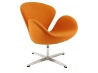 Image du fauteuil design Sedia Swan Arne Jacobsen - Arancione