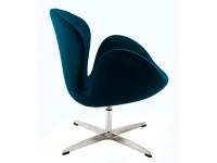 Image du fauteuil design Sedia Swan Arne Jacobsen - Blu Reale