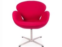 Image du fauteuil design Sedia Swan Arne Jacobsen - Rosa