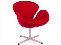 Image du fauteuil design Sedia Swan Arne Jacobsen - Rosso