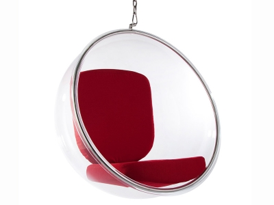 Image du fauteuil design Chaise Bubble Eero Aarnio - Rouge