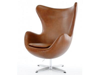 Image du fauteuil design Egg Arne Jacobsen - Marrone