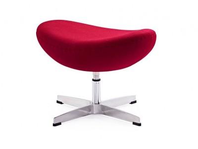 Image du fauteuil design Egg Ottoman Arne Jacobsen - Rouge