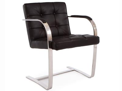 Image du fauteuil design Fauteuil Capitonné BRNO  - Noir