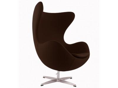 Image du fauteuil design Fauteuil Egg AJ - Marron foncé