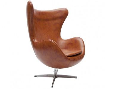 """Image du fauteuil design Fauteuil Egg Arne Jacobsen - Marron """"Vintage"""""""